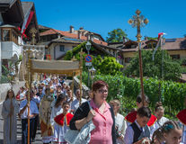 Традиционное религиозное шествие для того чтобы отпраздновать домены сборника Стоковые Фотографии RF