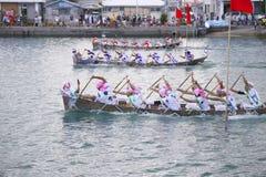 Традиционное событие в Окинаве Itoman Harley Стоковая Фотография