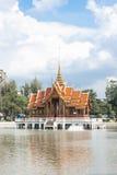 Традиционное тайское зодчество типа Стоковые Изображения