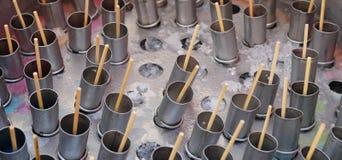 Традиционное тайское мороженное в стальном ведре Стоковые Фото
