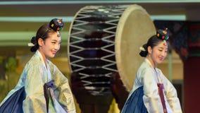 традиционное танцульки корейское Стоковое Изображение