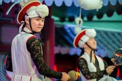 традиционное танцульки корейское Стоковые Фотографии RF