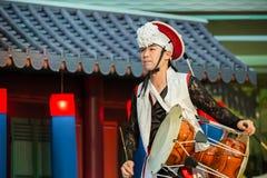 традиционное танцульки корейское Стоковое Фото