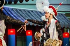 традиционное танцульки корейское Стоковая Фотография