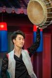 традиционное танцульки корейское Стоковое фото RF