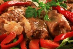 традиционное тарелки капусты заполненное румыном Стоковая Фотография RF