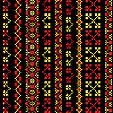 Традиционное khokhloma вышивки Стоковое Изображение