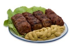 традиционное meatballs mici тарелки румынское Стоковое Фото