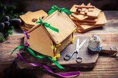 Традиционно коттедж пряника рождества Стоковая Фотография RF