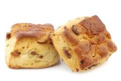Традиционные английские scones с изюминками Стоковые Фото