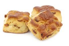 Традиционные английские scones с изюминками Стоковые Изображения RF