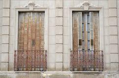 Традиционные аргентинские окна Стоковые Фото