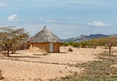 Традиционные африканские хаты Стоковая Фотография RF