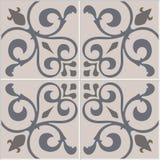 Традиционные богато украшенные португальские декоративные azulejos плиток текстурированный картиной традиционный сбор винограда в Стоковые Изображения