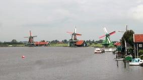 Традиционные ветрянки в Голландии видеоматериал