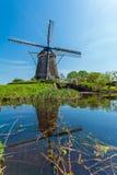 Традиционные ветрянки около Амстердама, Нидерландов Стоковые Изображения RF