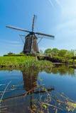 Традиционные ветрянки около Амстердама, Нидерландов Стоковое Фото