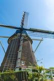 Традиционные ветрянки около Амстердама, Нидерландов Стоковые Фото