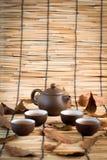 Традиционные восточные чайник и чашка Стоковое Фото