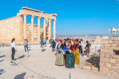 Традиционные греческие костюмы Стоковое Фото