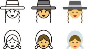 Традиционные еврейские люди и женщины Стоковая Фотография