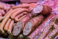 Традиционные европейские сосиски и frankfurters Стоковое Фото