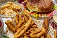 Традиционные деревенские испеченные продукты стоковая фотография
