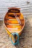 Традиционные деревянные весельные лодки на windermere озера в английском районе озера Стоковые Фотографии RF