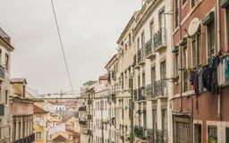 Традиционные здания, Лиссабон, Португалия Стоковое Фото