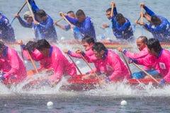 Традиционные длинние гонки шлюпки на huahin 2013 toa koa Стоковое Фото