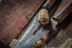Традиционные инструменты woodworker Стоковая Фотография