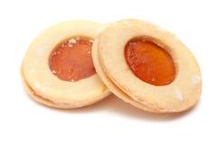 Традиционные канарские печенья масла и абрикоса сжимают Стоковое фото RF