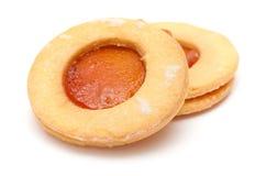 Традиционные канарские печенья масла и абрикоса сжимают Стоковые Изображения