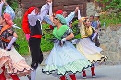 Традиционные каталонские танцоры Стоковые Фотографии RF