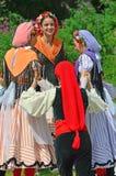 Традиционные каталонские танцоры Стоковые Изображения