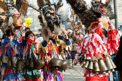 Традиционные костюмы на играх masquerade Стоковые Фото