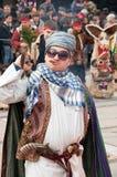 Традиционные костюмы на играх masquerade Стоковое Изображение RF