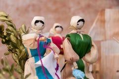 Традиционные куклы мозоли словака Стоковые Фото