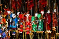 Традиционные марионетки вися в Bagan Стоковое фото RF