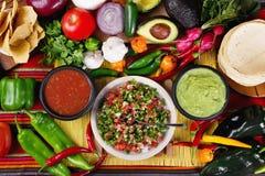 Традиционные мексиканские сальсы Стоковое фото RF