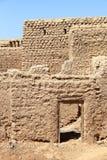 Традиционные оманские дома Грязь-кирпича Стоковые Изображения RF