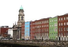 Традиционные дома в Дублине, Ирландии Стоковое Фото