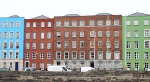 Традиционные дома в Дублине, Ирландии Стоковое Изображение