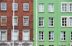 Традиционные дома в Дублине, Ирландии Стоковое Изображение RF