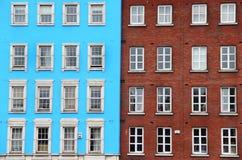 Традиционные дома в Дублине, Ирландии Стоковые Фото