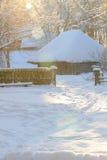 Традиционные дома в лесе Стоковые Фотографии RF