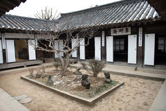 Традиционные дома в Корее стоковая фотография