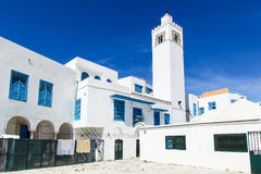 Традиционные дома в Sidi Bou сказали, Тунис Стоковое Изображение RF