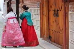 Традиционные дома Bukchon Сеула Стоковое Изображение RF