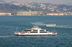 Традиционные паромы Стамбула в Стамбуле, Турции Стоковое Фото